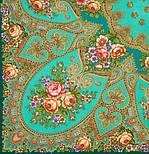 Венский вальс 1121-12, павлопосадский платок шерстяной  с шелковой бахромой, фото 2