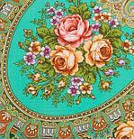 Венский вальс 1121-12, павлопосадский платок шерстяной  с шелковой бахромой, фото 3