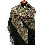 Испанский 710-10, павлопосадский платок шерстяной  с шелковой бахромой, фото 2
