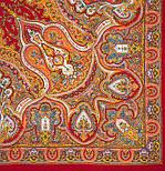 Испанский 710-5, павлопосадский платок шерстяной  с шелковой бахромой, фото 3