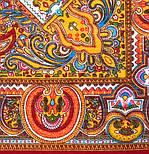 Испанский 710-5, павлопосадский платок шерстяной  с шелковой бахромой, фото 4