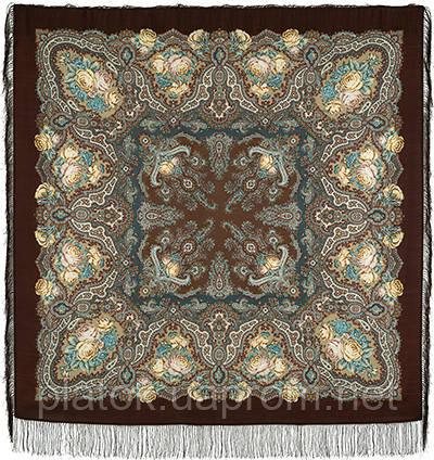 Испанское вино 1171-17, павлопосадский платок шерстяной  с шелковой бахромой