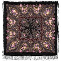 Испанское вино 1171-18, павлопосадский платок шерстяной  с шелковой бахромой