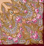 Крым 1542-7, павлопосадский платок шерстяной  с шелковой бахромой, фото 2