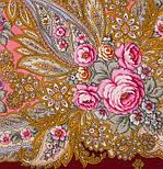 Крым 1542-7, павлопосадский платок шерстяной  с шелковой бахромой, фото 3
