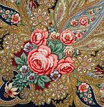 Крым 1542-14, павлопосадский платок шерстяной  с шелковой бахромой, фото 3