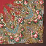 Крым 1542-17, павлопосадский платок шерстяной  с шелковой бахромой, фото 2