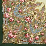 Крым 1542-9, павлопосадский платок шерстяной  с шелковой бахромой, фото 2