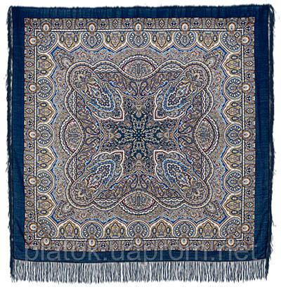 Скринька самоцвітний 762-14, павлопосадский вовняну хустку з шовковою бахромою