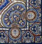 Ларец самоцветный 762-14, павлопосадский платок шерстяной  с шелковой бахромой, фото 2