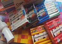 АКЦИЯ НА НОВИНКУ Craft&Clay Крафт энд Клей набор из 6 основных цветов+лак в подарок