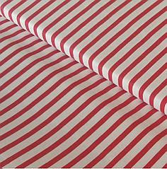 Лоскуток. Ткань в красную полоску  78*160 № 77