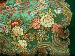 Бал маскарад 982-9, павлопосадский платок шерстяной с шелковой бахромой, фото 2