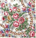 Весеннее утро 555-1, павлопосадский платок шерстяной с шелковой бахромой, фото 2