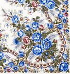 Весеннее утро 555-4, павлопосадский платок шерстяной с шелковой бахромой, фото 5