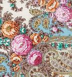 Весенний ручеек 1428-3, павлопосадский платок шерстяной с шелковой бахромой, фото 2