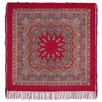 Волшебный танец 1581-5, павлопосадский платок шерстяной с шелковой бахромой   Первый сорт