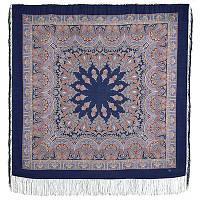 Волшебный танец 1581-14, павлопосадский платок шерстяной с шелковой бахромой