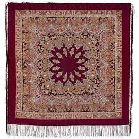 Волшебный танец 1581-7, павлопосадский платок шерстяной с шелковой бахромой, фото 1