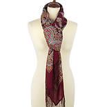 Волшебный танец 1581-7, павлопосадский платок шерстяной с шелковой бахромой, фото 2