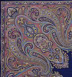 Восточный калейдоскоп 1402-14, павлопосадский платок шерстяной с шелковой бахромой, фото 2