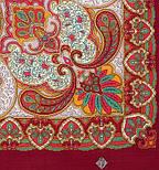 Капельки счастья 1547-7, павлопосадский платок шерстяной с шелковой бахромой, фото 3