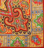 Класичний 814-4, павлопосадский вовняну хустку з шовковою бахромою, фото 2