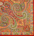 Класичний 814-4, павлопосадский вовняну хустку з шовковою бахромою, фото 3