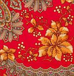 Багрянец осени 1545-5, павлопосадский платок шерстяной с шерстяной бахромой, фото 5
