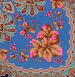 Багрянец осени 1545-13, павлопосадский платок шерстяной с шерстяной бахромой, фото 3