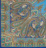 Бирюсинка 1472-13, павлопосадский платок шерстяной с шерстяной бахромой, фото 2