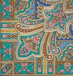Бирюсинка 1472-13, павлопосадский платок шерстяной с шерстяной бахромой, фото 3