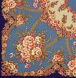 Возвращение 1460-14, павлопосадский платок шерстяной с шерстяной бахромой, фото 2