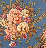 Возвращение 1460-14, павлопосадский платок шерстяной с шерстяной бахромой, фото 3
