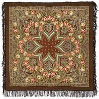 Купчиха 1572-17, павлопосадский платок шерстяной с шерстяной бахромой