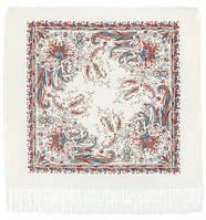 Балаганчик 203-4, павлопосадский платок шерстяной  с шелковой бахромой, фото 1