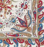 Балаганчик 203-4, павлопосадский платок шерстяной  с шелковой бахромой, фото 3