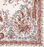 Балаганчик 203-5, павлопосадский платок шерстяной  с шелковой бахромой, фото 3