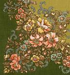 Вечерний сад 1488-10, павлопосадский платок шерстяной  с шелковой бахромой, фото 2