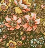 Вечерний сад 1488-10, павлопосадский платок шерстяной  с шелковой бахромой, фото 3