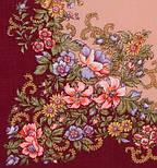 Вечерний сад 1488-7, павлопосадский платок шерстяной  с шелковой бахромой, фото 2