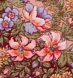 Вечерний сад 1488-7, павлопосадский платок шерстяной  с шелковой бахромой, фото 3