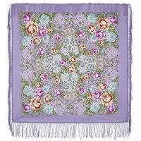 Воздушное настроение 1661-15, павлопосадский платок шерстяной  с шелковой бахромой