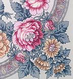 Кумушка 1453-1, павлопосадский вовняну хустку з шовковою бахромою, фото 2