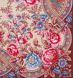 Кумушка 1453-16, павлопосадский платок шерстяной  с шелковой бахромой, фото 3