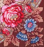Кумушка 1453-16, павлопосадский платок шерстяной  с шелковой бахромой, фото 2