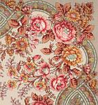 Кумушка 1453-2, павлопосадский платок шерстяной  с шелковой бахромой, фото 2
