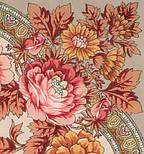 Кумушка 1453-2, павлопосадский платок шерстяной  с шелковой бахромой, фото 3