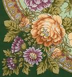 Кумушка 1453-9, павлопосадский платок шерстяной  с шелковой бахромой, фото 2