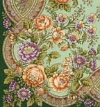 Кумушка 1453-9, павлопосадский платок шерстяной  с шелковой бахромой, фото 3